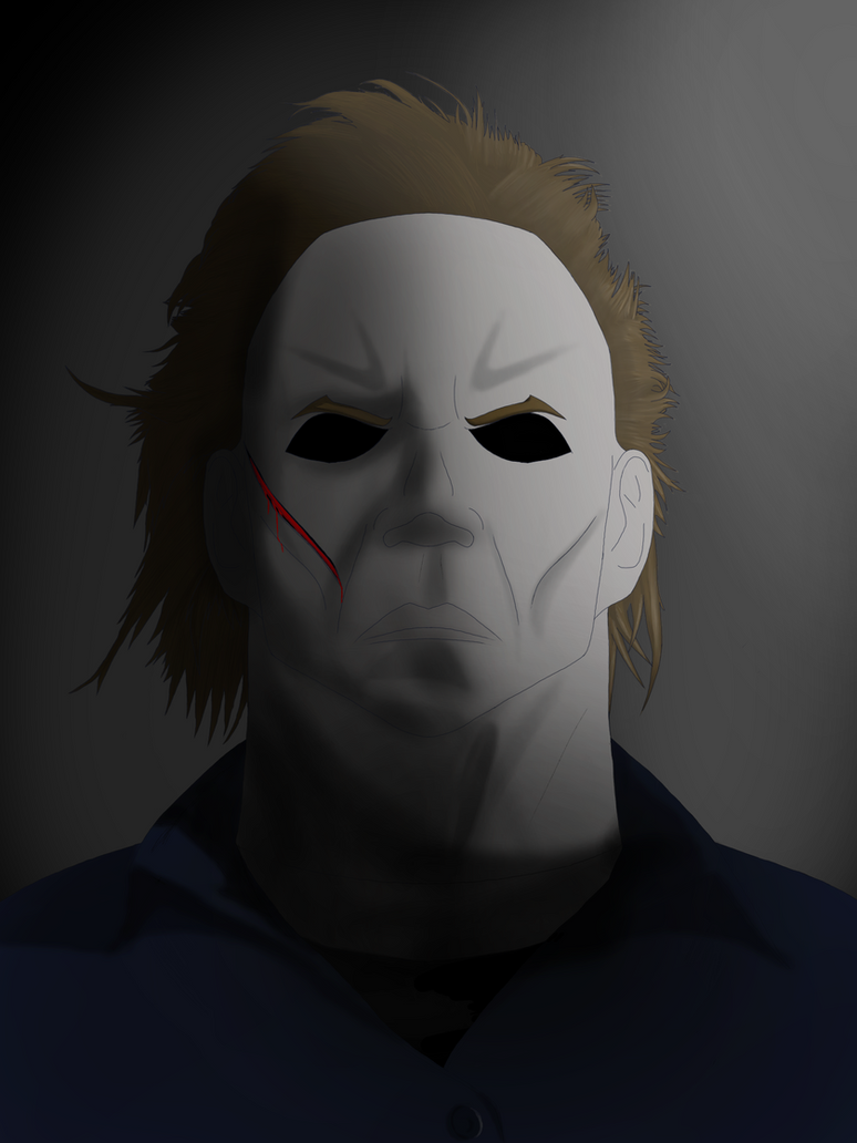 dark michael myers. happy halloween.redfiredark on deviantart