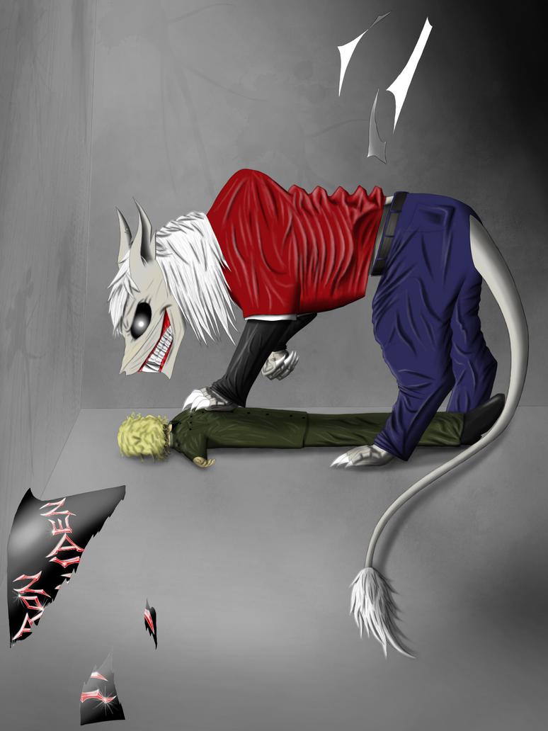 Demon cat Eddie. by Redfiredark
