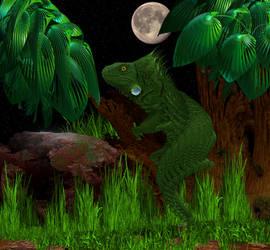 Fractal Iguana by Tate27kh