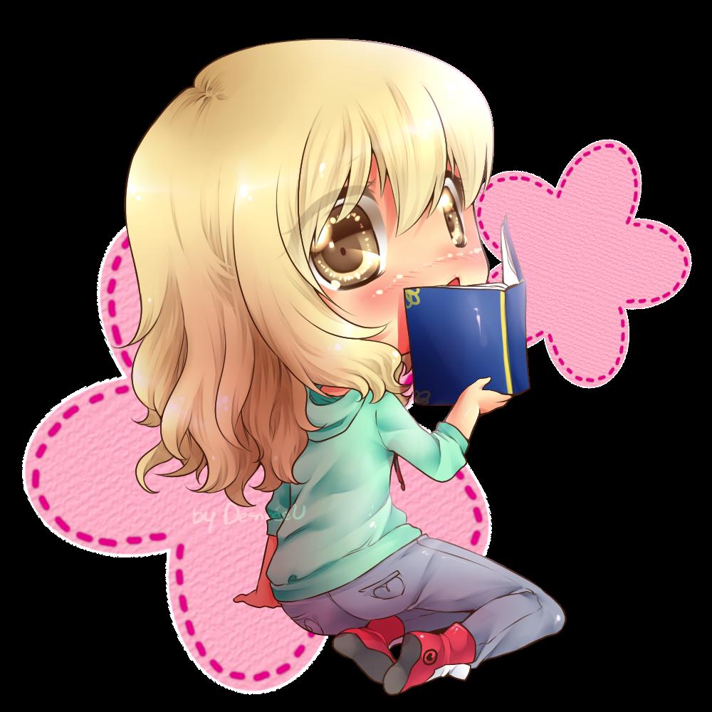 :CM: Little Shy Book Lover by Desiree-U