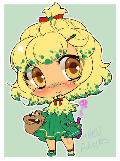 Offer/Trade to Adopt: Shroomish Gijinka by Desiree-U