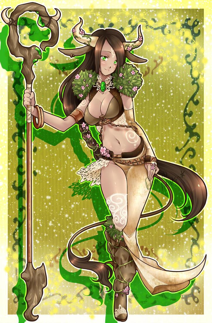 Fantasy Zodiac Adopts: Taurus the Druid [CLOSED] by Desiree-U