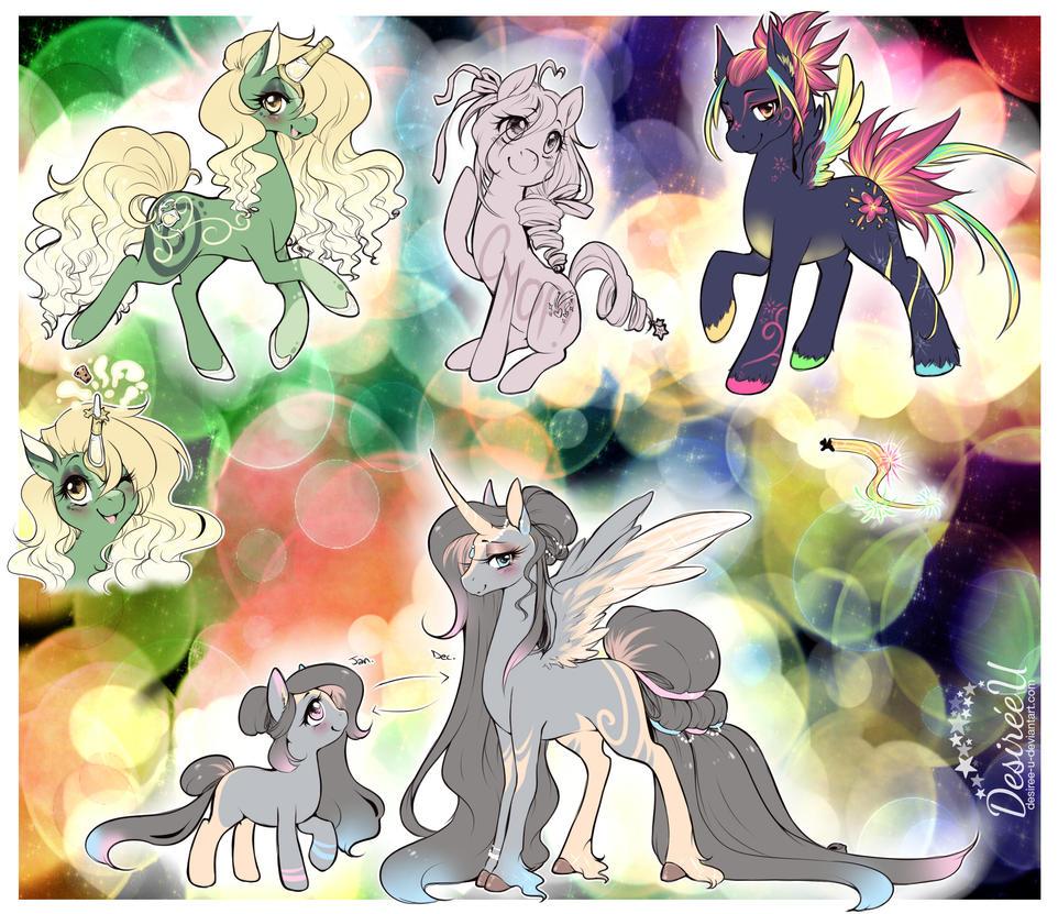 New Years Pony Adopts (CLOSED) by Desiree-U