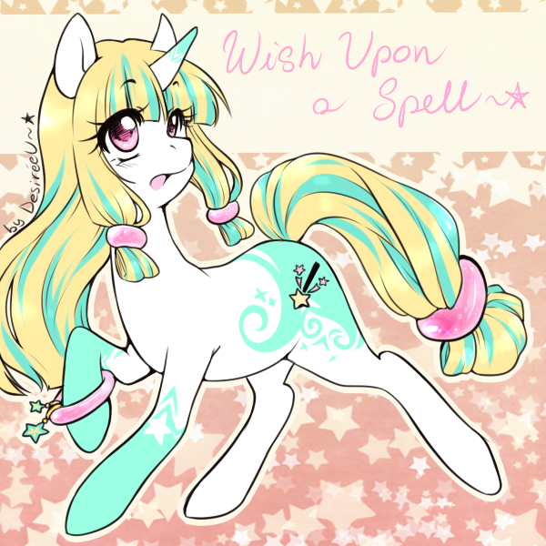 :Custom Pony Adopt: Wish Upon A Spell by Desiree-U