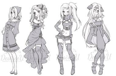 CYOP/OTA Outfit Adopts (CLOSED) by DesireeU