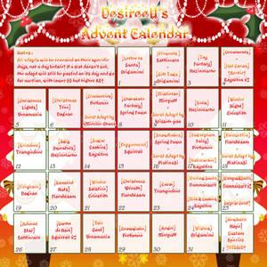 DesireeU's Species Advent Calendar (38/42 OPEN)