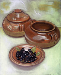 Pottery with Olives