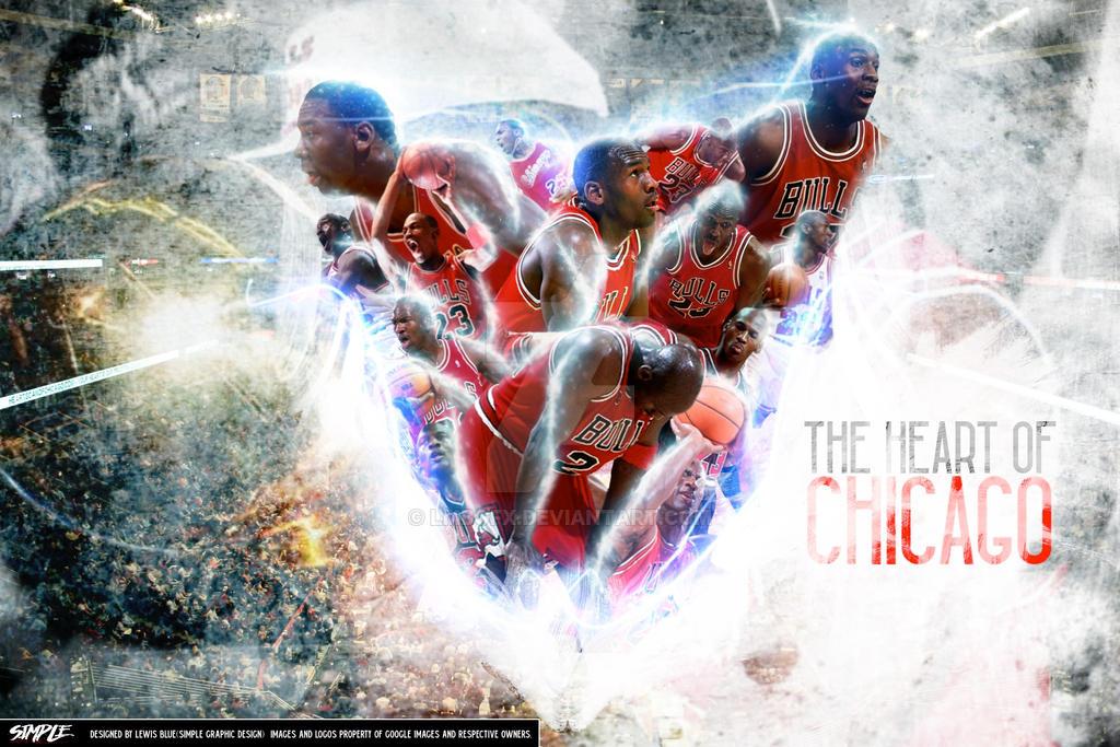 Michael Jordan Fan Art: The Heart Of Chicago Wallpaper By LMBGFX