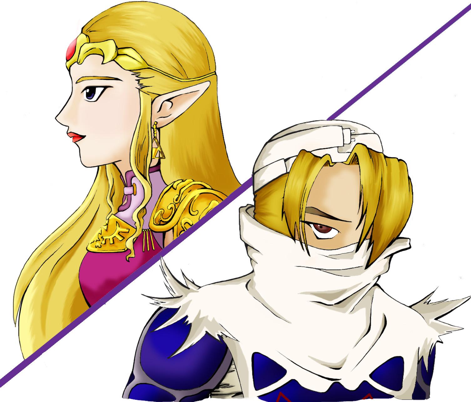 Coleccion de imagenes de Zelda. Zelda_and_Sheik_by_Corpas