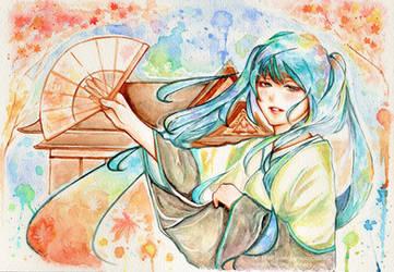 Miku as maiko by kanaliha
