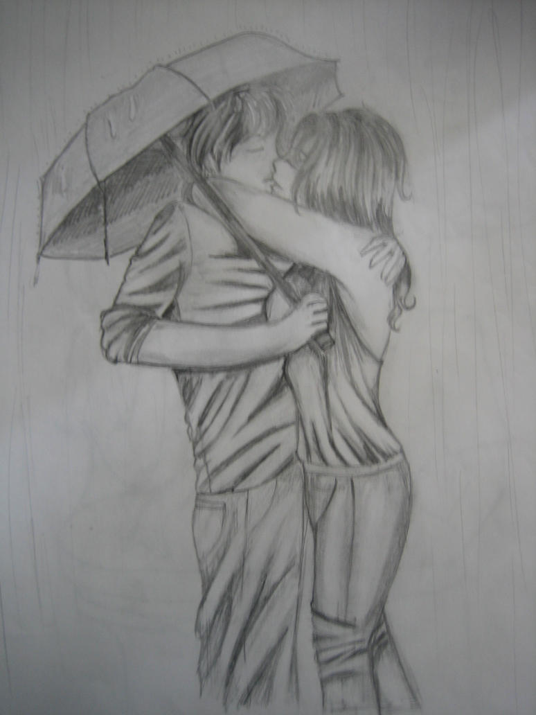 Kissing in the Rain by deathsannoyedwithme on DeviantArt