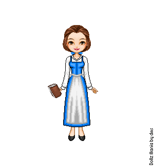 Belle's Blue Dress by LolaScheving