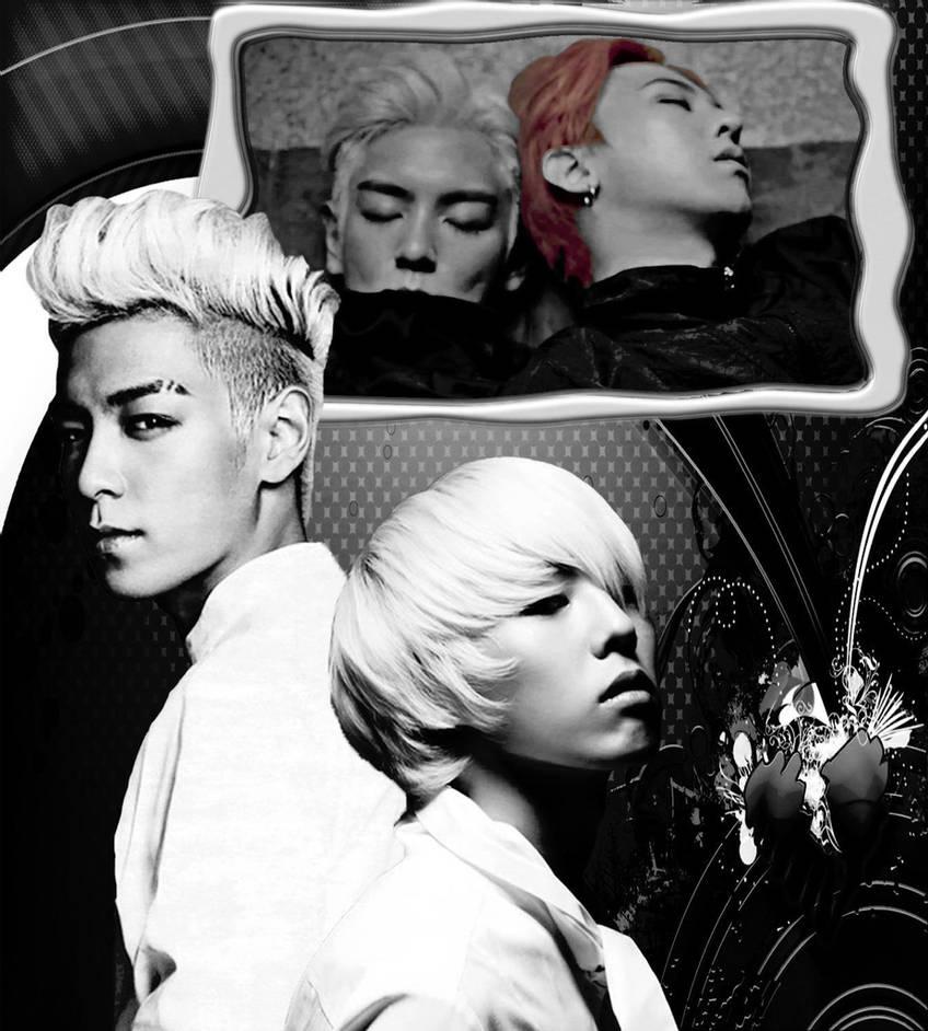 Bigbang gtop g dragon and t o p black and white by sarasanzuke