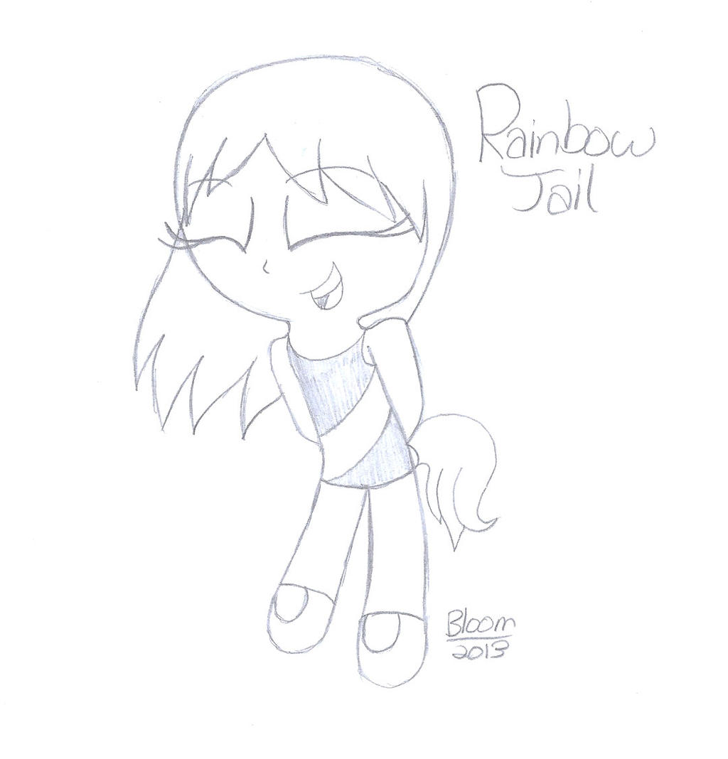PC. Rainbow Tail by Sweatshirtmaster