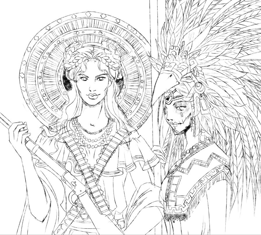 Sketch: Septiembre y Octubre by Rusembell
