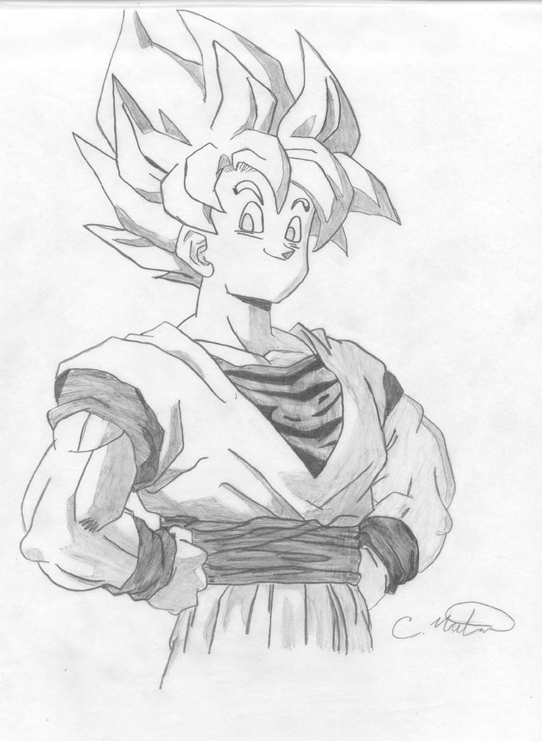 how to make goku drawing