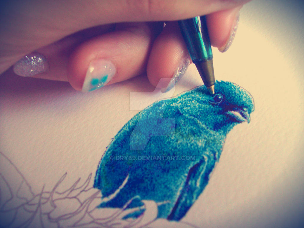 Wip: pointillism! by Dry89