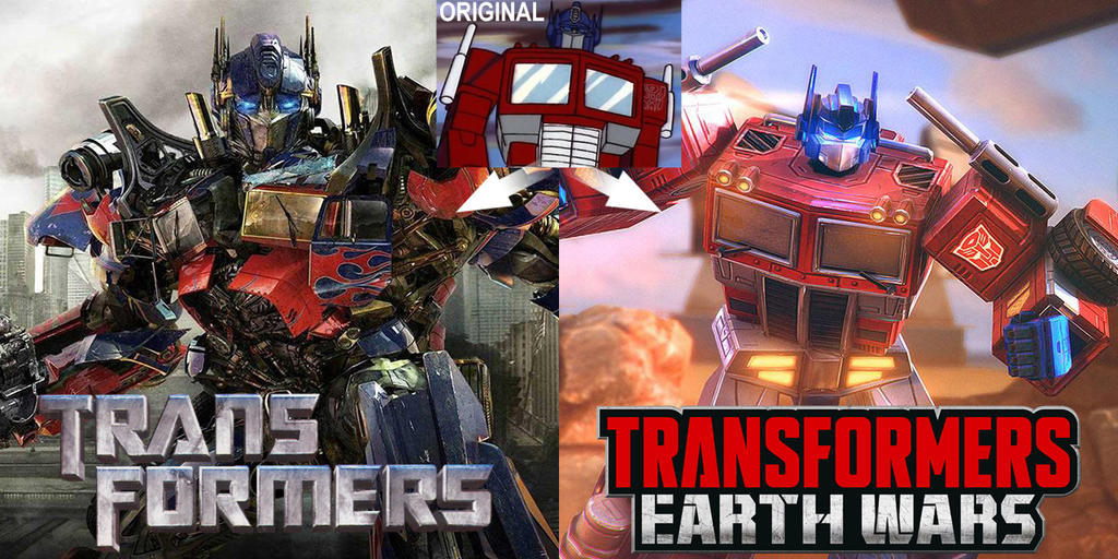 Transformers movies VS. mobile game by Cobra-Blade