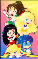 Sailor Moon Group by Hihoshi