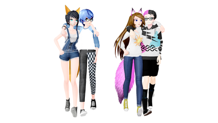 [MMD Friends] 2016 VS. 2020 (Sundrop and Ryder)