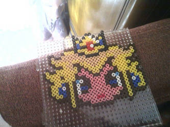 A Hama Beads of Princess Peach by Contxu