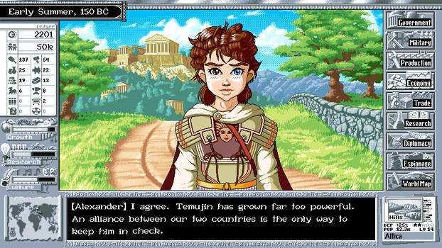 What if Civilization Were a Visual Novel?
