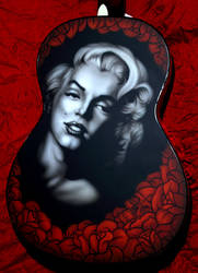 Airbrushed Guitar - Marilyn by SEVANS73