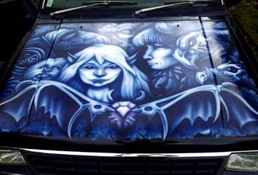 Airbrushed Ute Bonnet - Dark Crystal Theme by SEVANS73