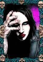 Marilyn Manson - Mixed Media by SEVANS73