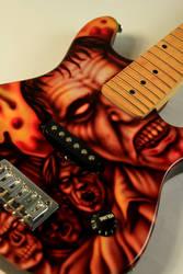 Zombie Guitar - Custom Paint by SEVANS73