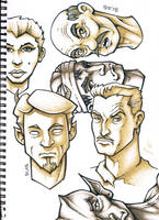Sketchbook Page - Faces by SEVANS73