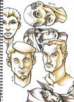Sketchbook Page - Faces