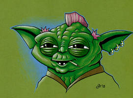 Evans Yoda goes to college by SEVANS73