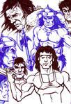 Sketches - Rambo and Conan