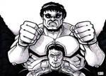 David and the Hulk by SEVANS73