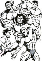 Sketchbook - Bodybuilders. by SEVANS73