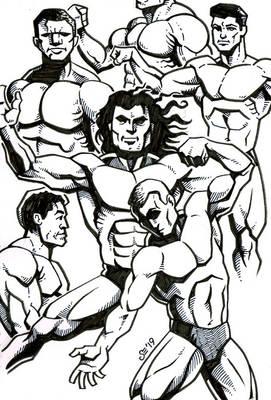 Sketchbook - Bodybuilders.