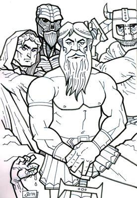 Sketchbook - random fantasy page