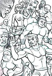 Sketchbook - random characters by SEVANS73
