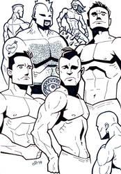 Sketchbook - muscle dudes by SEVANS73