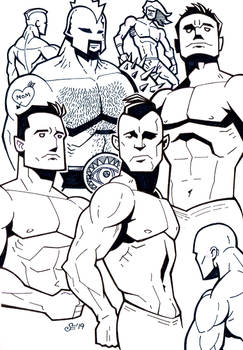 Sketchbook - muscle dudes
