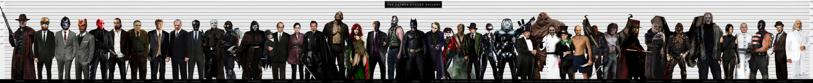BATMAN ROGUES GALLERY by Art-by-Jilani