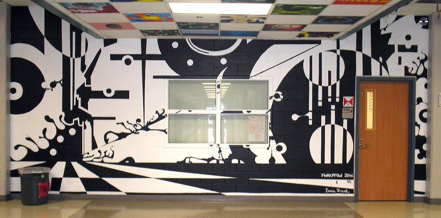 High school mural by Art-by-Jilani
