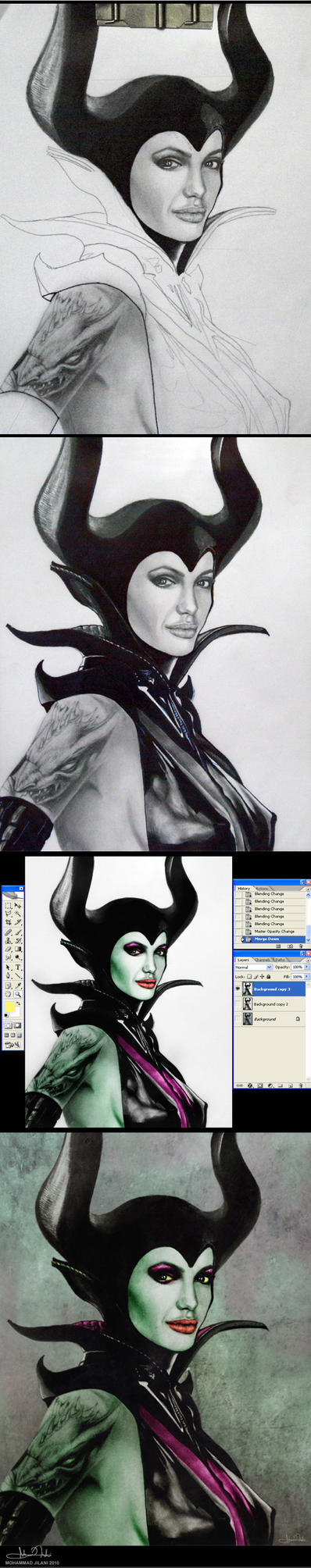 Maleficent-Process by Art-by-Jilani