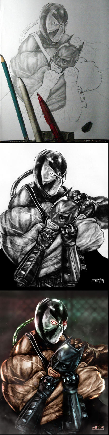 The Dark Knight Falls process by Art-by-Jilani