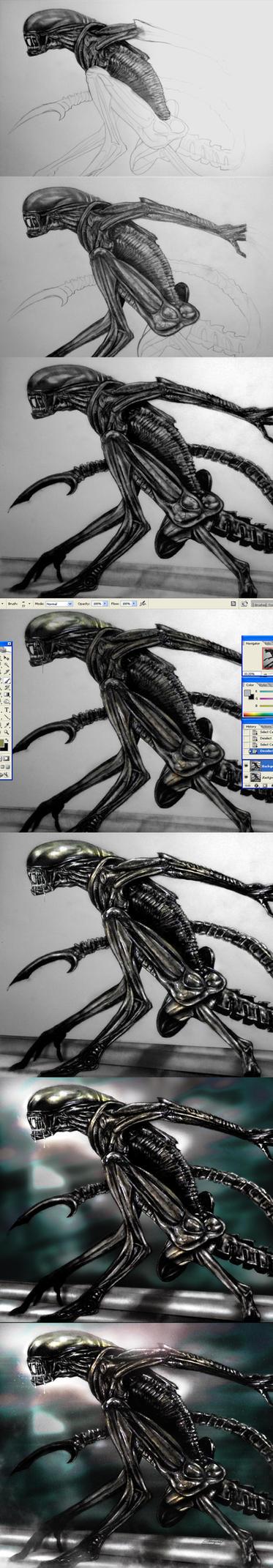 Xenomorph progressional by Art-by-Jilani