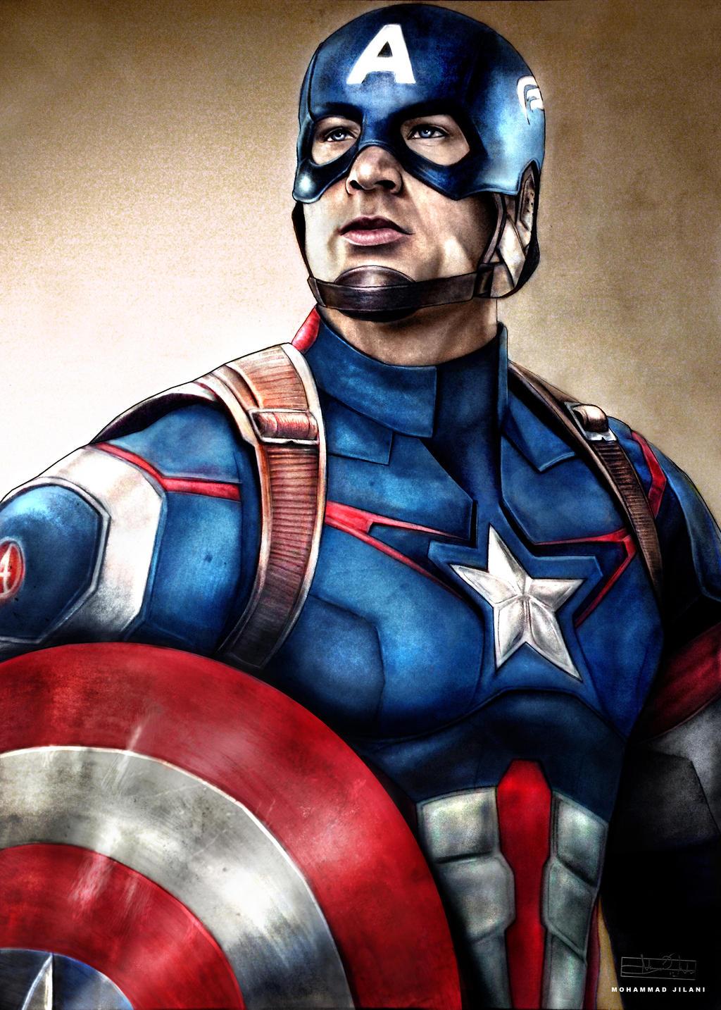 Captain America by Art-by-Jilani