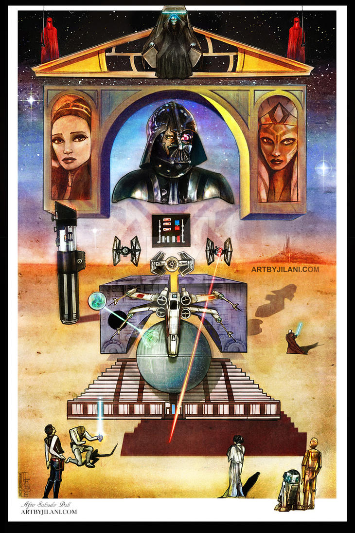 Dematerialization near the nose of Vader by Art-by-Jilani