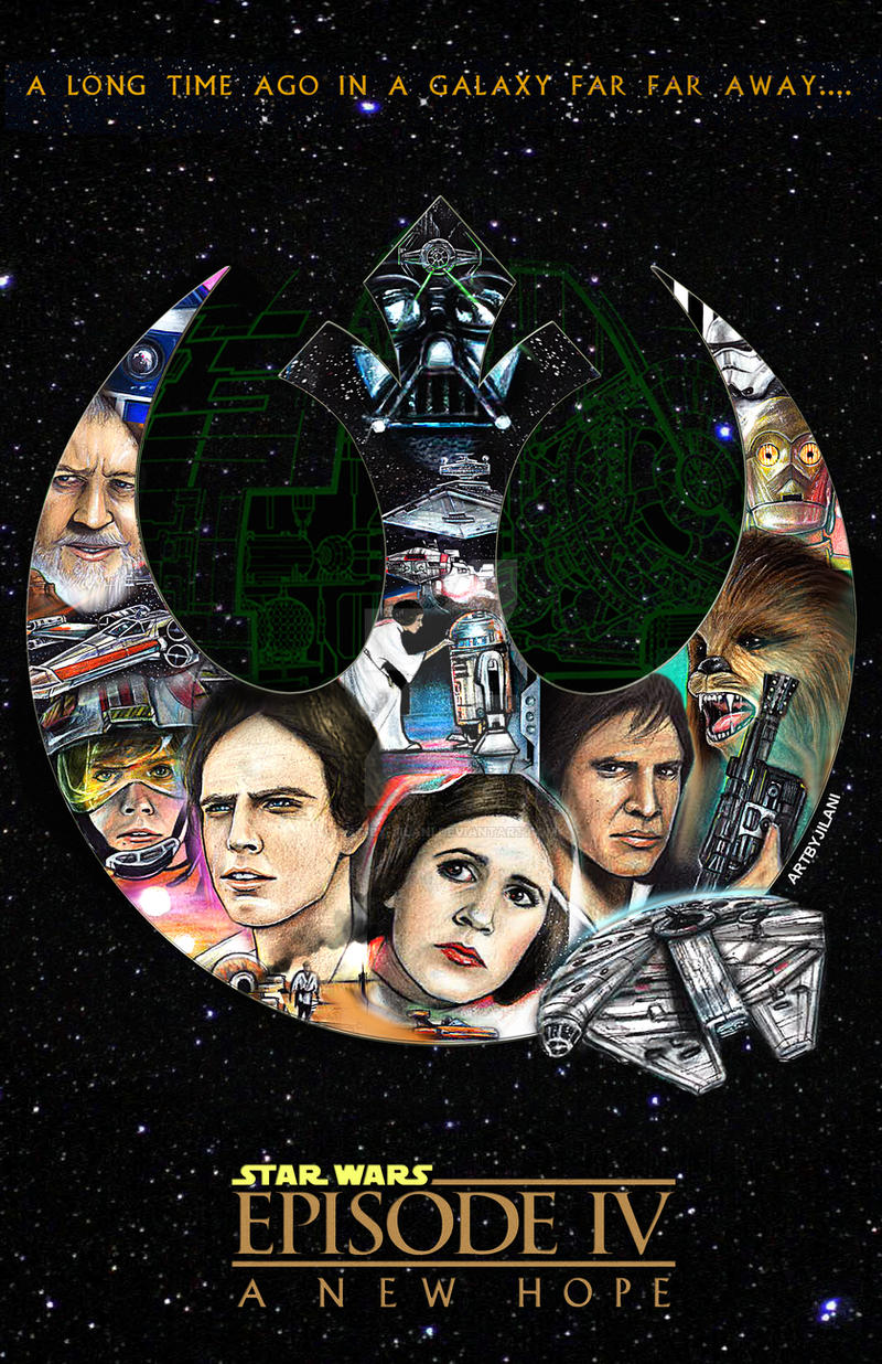 STARWARS Episode IV 40th Anniversary by Art-by-Jilani
