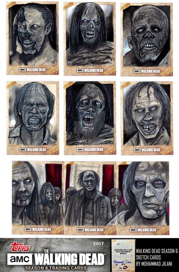 Walking Dead Season 6 official sketch cards by Art-by-Jilani